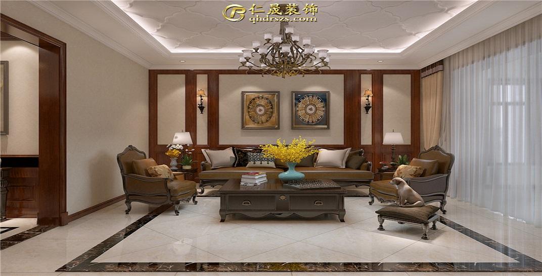 达润御园185平米简约美式风格三室两厅三卫,辽宁11选5走势图装修效果图